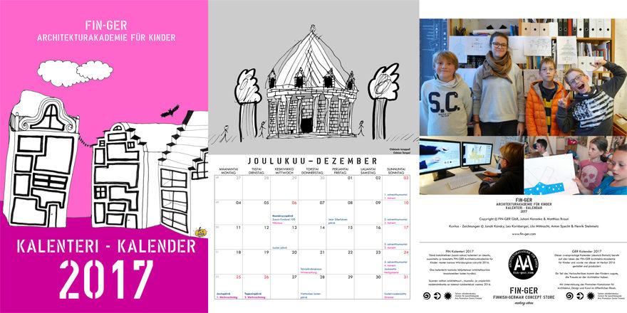 Tipp für alle Finnlandfans: Der neue Kalender 2017 der FIN-GER Architekturakademie für Kinder