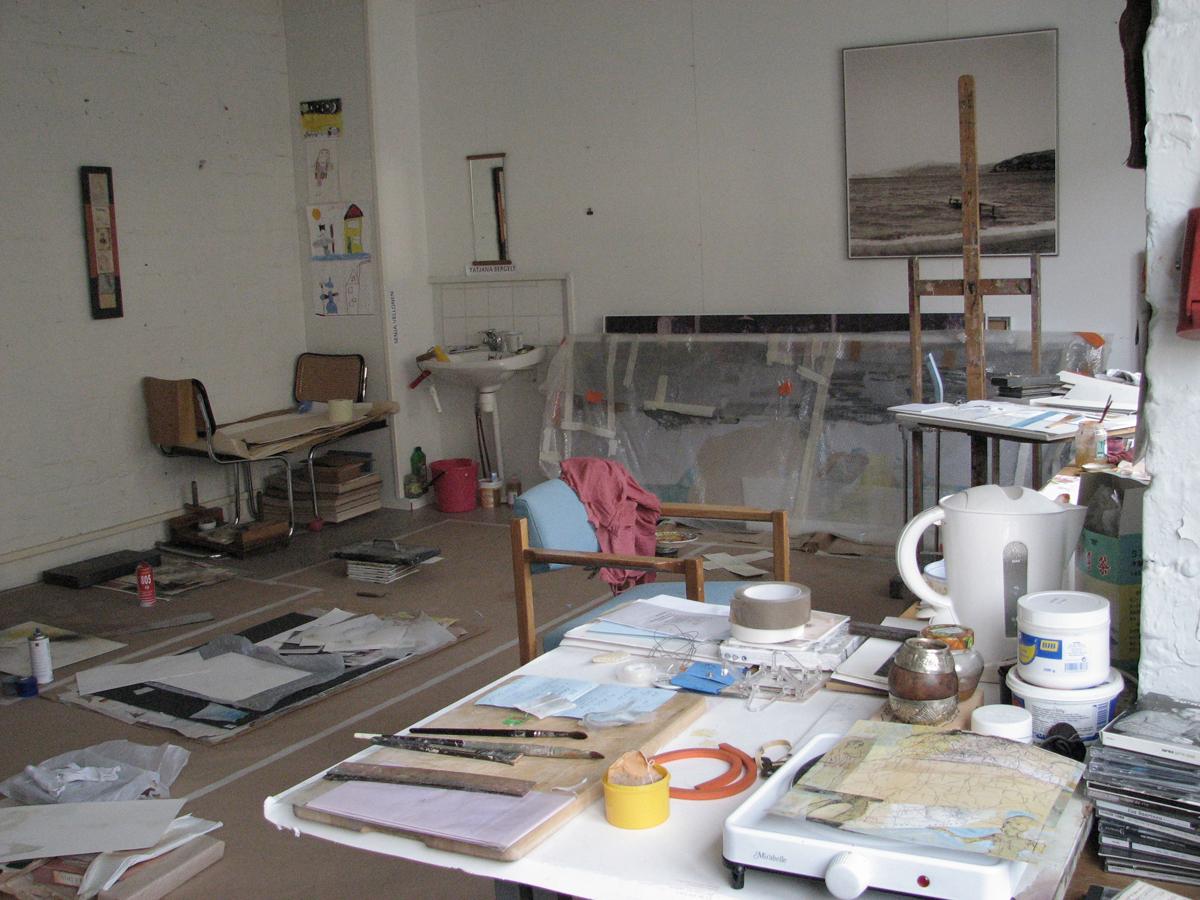 (FOTO: Tatjana Bergelt) Das Atelier von Tatjana Bergelt im Helsinkier Stadtteil Vallila