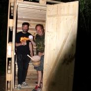 (FOTO: Finntastic) Um Mitternacht ist es endlich soweit: Die Sauna ist startklar für den ersten Sauna-Aufguss (Löyly).