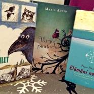 (FOTO: Finntastic) Meine Bücherausbeute vom finnischen Weihnachtsbasar. Links im Bild mein Fund aus der Bücherkiste.
