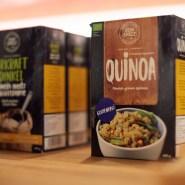 (FOTO: Botschaft von Finnland in Berlin/Bernhard Ludewig) Das finnische Unternehmen Sun Spelt hat neben Dinkelprodukten auch Quinoa im Angebot.