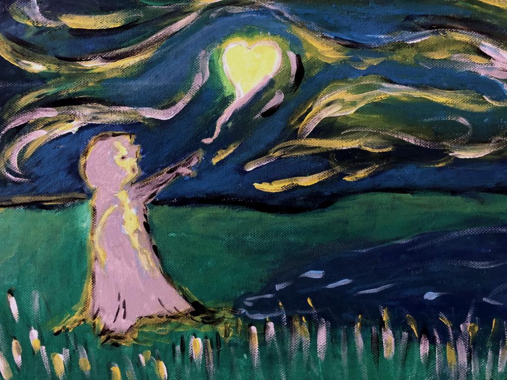 (Ölmalerei: Finntastic) Das Geheimnis des Nordlichts (2019)