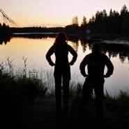 (FOTO: Elli Jobbágy) Elli und Toni lieben die Stille,  die unberührte Natur und die hellen Sommernächte in Finnland.