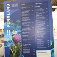 """(FOTO: Finntastic) Unter dem Motto """"Aus der Wildnis"""" gab es in Teemu Kaijanens Messe-Restaurant  am finnischen Pavillion eine riesen Auswahl an ostfinnischen Spezialitäten."""