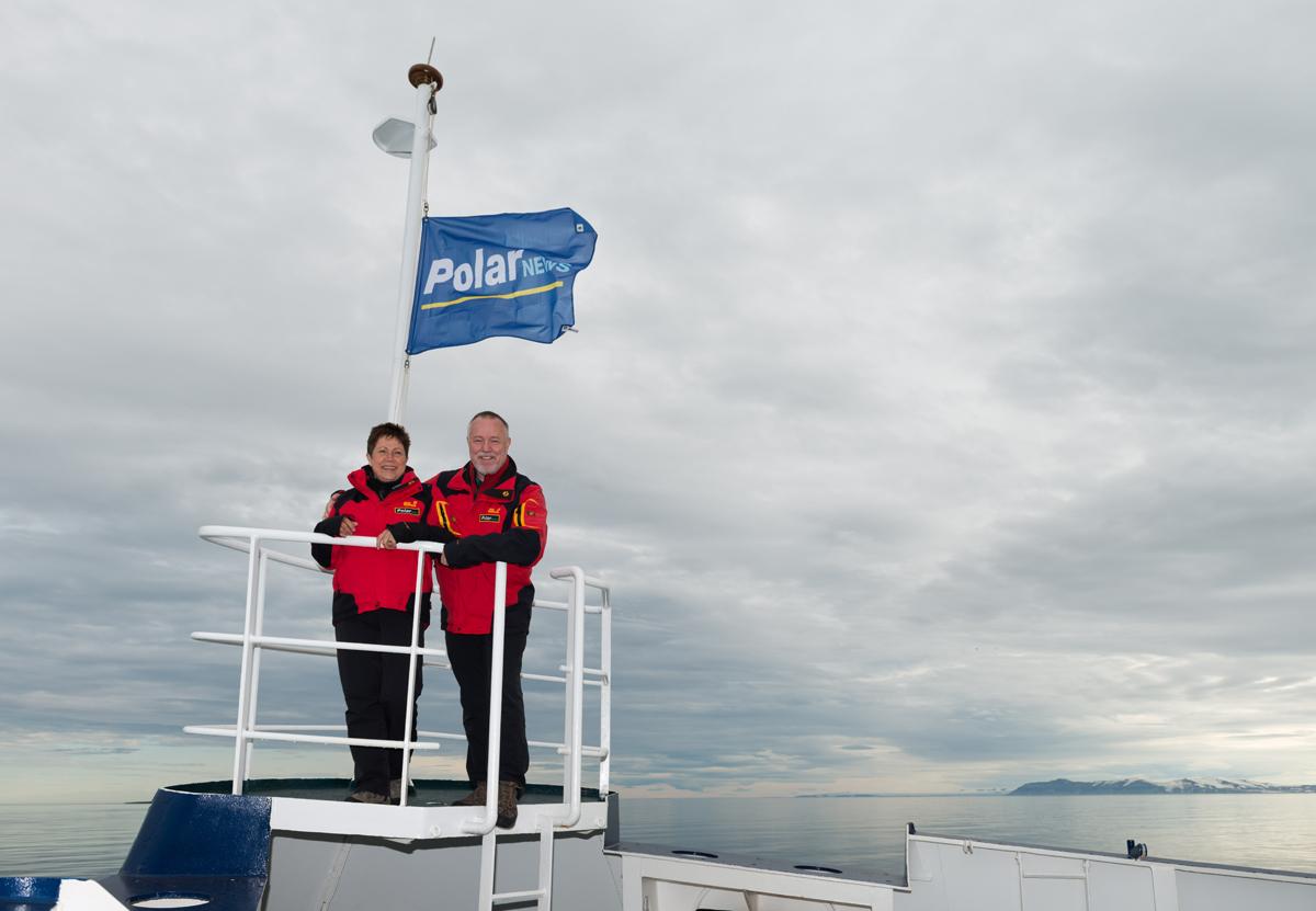 (FOTO: Heiner Kubny) Heiner und Rosamaria Kubny von PolarNEWS sind mehrmals im Jahr auf Expedition in die Arktis oder Antarktis unterwegs.