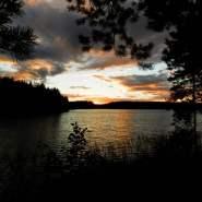 (FOTO: Hike and See) Sonnenuntergang in Ilomantsi - einfach wunderschön!