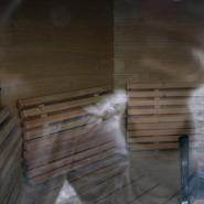 (FOTO: Mikael Diehl) Typisch Finnland - Auch das kleine Ausflugsboot hat im Heck eine eigene Sauna!