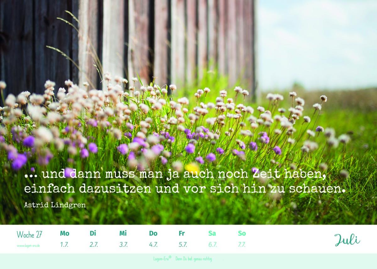 (FOTO: Lagomera) Bring mit dem Lagomera-Wochenkalender 2019 mehr Glück und Zufriedenheit in Dein Leben.