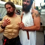 """(Bildrechte: Udo Wonz) Weltmeister von 2012, Justin """"Nordic Thunder"""" Howard (rechts), heimlicher Bruder von Udo Wonz (links)."""