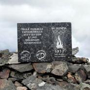 (FOTO: Mikael Diehl) Auf dem Gipfel des Pallastunturi ist dem finnischen Läufer und Leichathleten Paavo Nurmi ein Denkmal gesetzt.