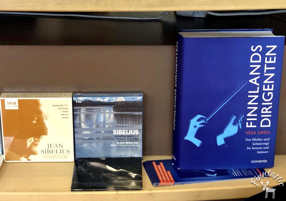 (FOTO: Finntastic): Übrigens: Bei Pankebuch gibt es nicht nur Bücher aus dem Norden sondern auch Hörspiele, Filme und CDs, zum Beispiel Musik von Jean Sibelius.