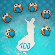 (FOTO: Finntastic) Als Dekoration für den Schokoladenkuchen brauchen wir sechs lustige Rentiergesichter.