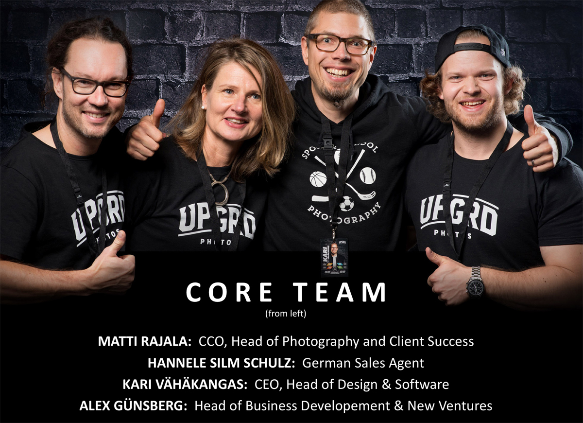 (PHOTO: Retouch Group Oy/UPGRD Photos) The Core Team of UPGRD Photos
