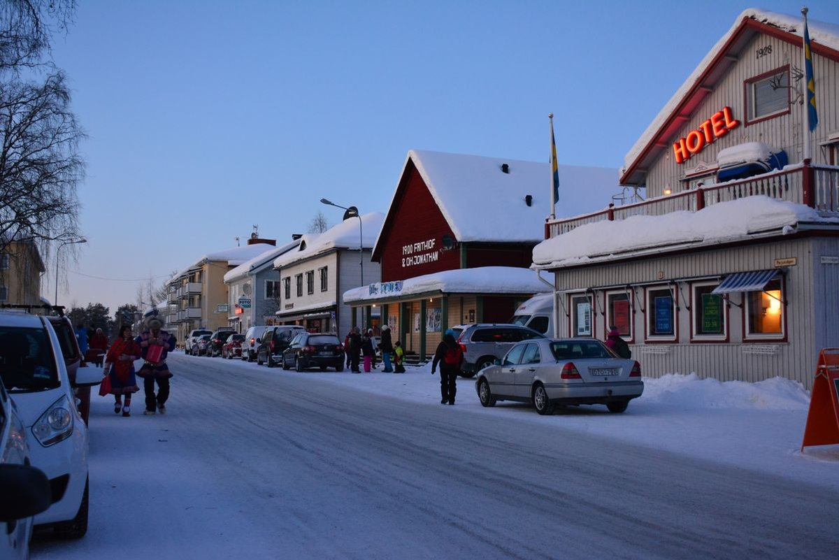 (FOTO: Liane Gruda) Im schwedischen Jokkmokk findet jedes Jahr im Februar der samische Wintermark, ein samisches Kulturfestival statt.