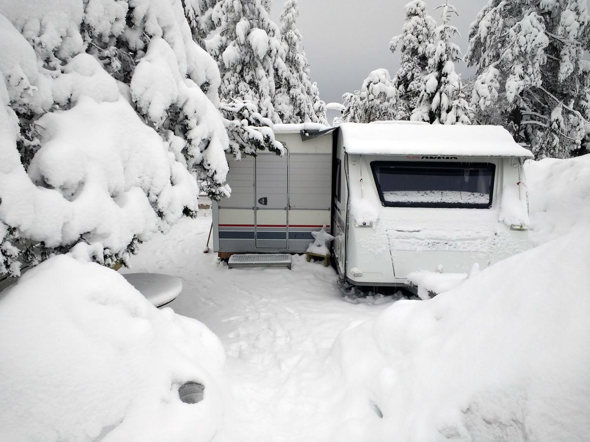 (FOTO: Lagomera) Wintercampen in Schweden - eine Herausforderung