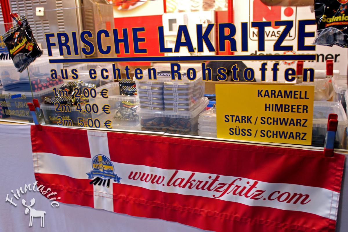 (FOTO: Finntastic) Am Stand von Lakritz Fritz gab es leckere nordische Lakritze in den unterschiedlichsten Geschmacksrichtungen zu kaufen.