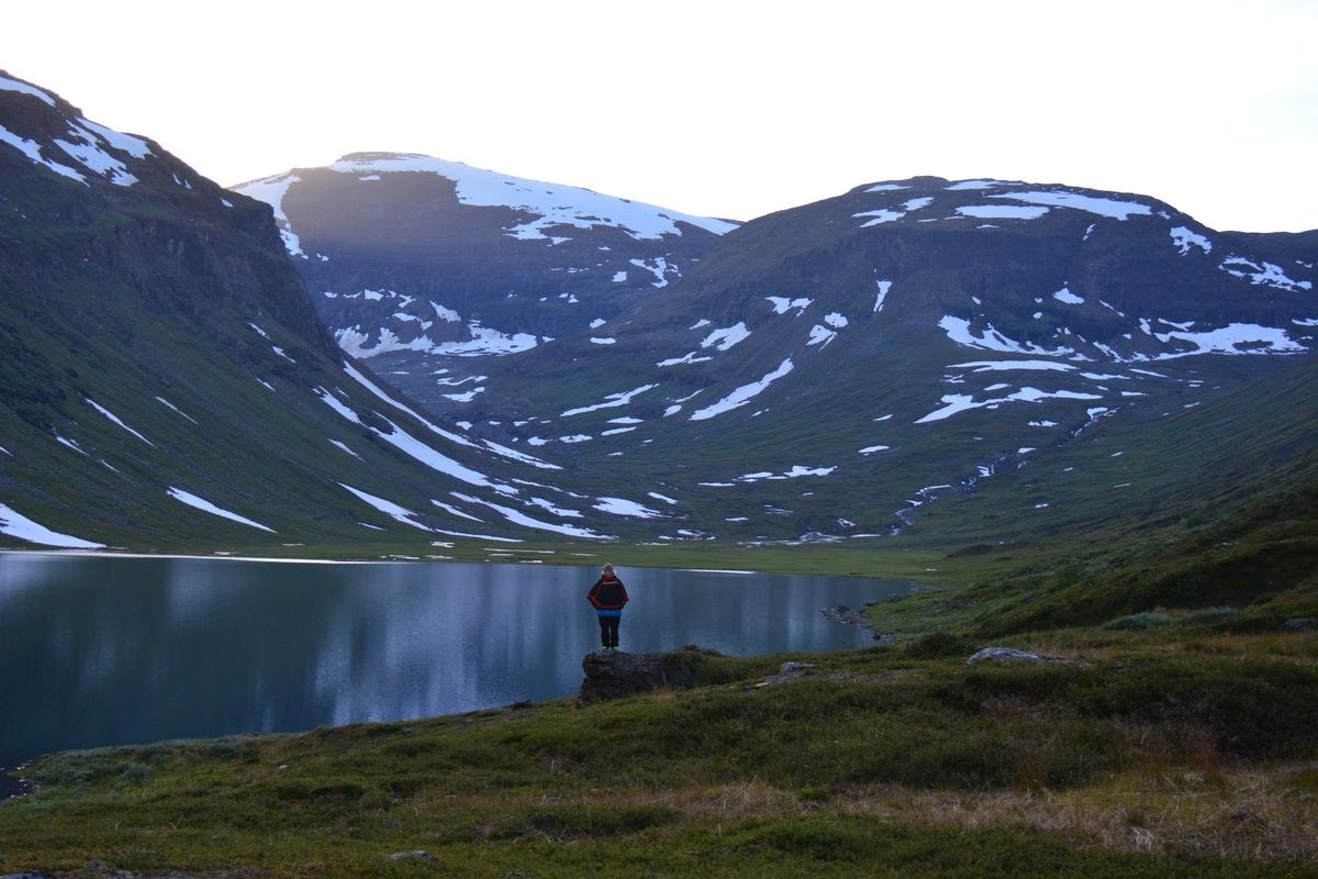 (FOTO: Liane Gruda) Im Tal Gårsavagge in den Sommerweidegebieten des Gabna Sameby, Abisko-Gebirge, Schwedisch Lappland, Sápmi.