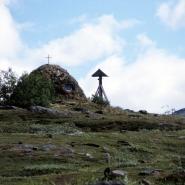 (FOTO: Liane Gruda) Die Kirchen-Kåta in der Sommersiedlung der Samen in Staloluokta, Badjelanda Nationalpark.