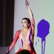 "(Photo: Markus Heinonen) jazz dance artist Wilma-Emilia Kuosa dancing at ""The Geisha Dance Concert""."