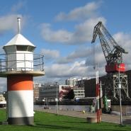 (FOTO: Finntastic) Der Turkuer Hafen beherbergt das Marine Museum und lädt zum spazieren gehen ein.