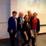 (FOTO: Volker Mentel) Das DFG-Team mit der Referentin Dr. Marketta Göbel-Uotila (Mitte)