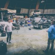 (FOTO: Dark Ride Brothers) Die Kugelhalle der Imatra Street Rod Association diente u.a. als Drehort für das neue Musikvideo zu Wasted Sundays.