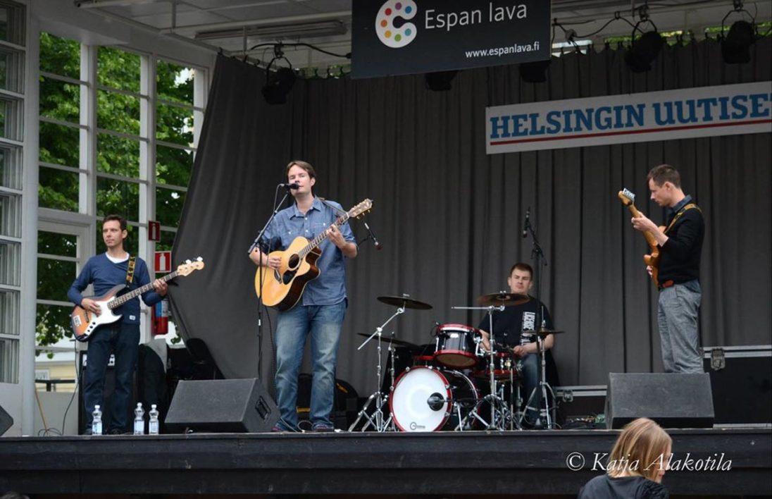 Alex ja Armottomat on stage at Helsinki Espan Lava