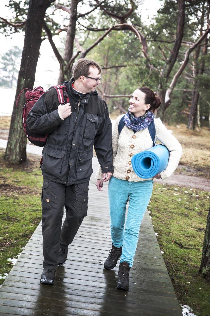 Dr. Anne und Olof Brolien auf dem Lagomweg