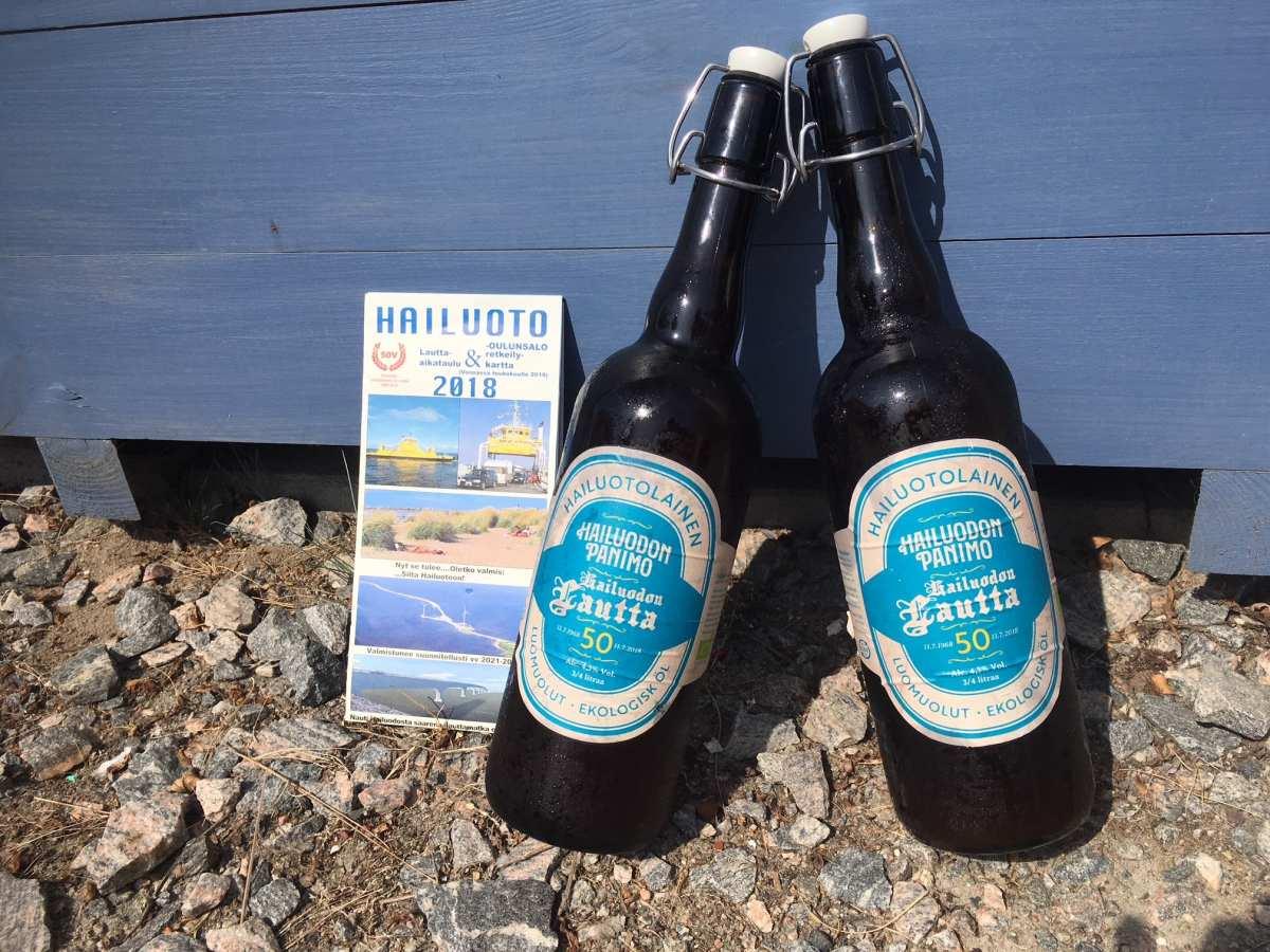 Finnisches Bier von der Rentierinsel Hailuoto.
