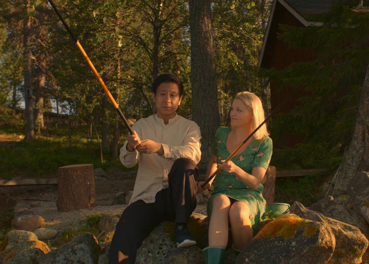 Cheng und Sirkka beim Angeln