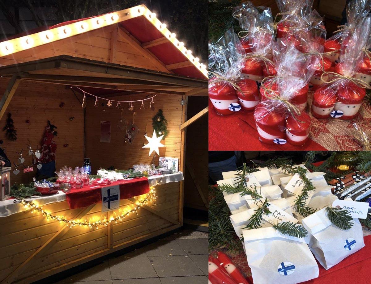 Weihnachtsstand Bonnin Suomalainen Kielikoulu