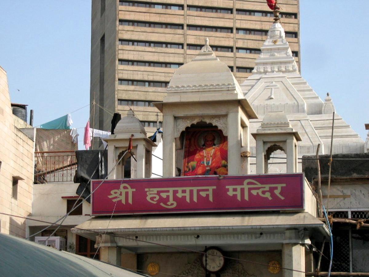 Tempel des Affengottes in Delhi