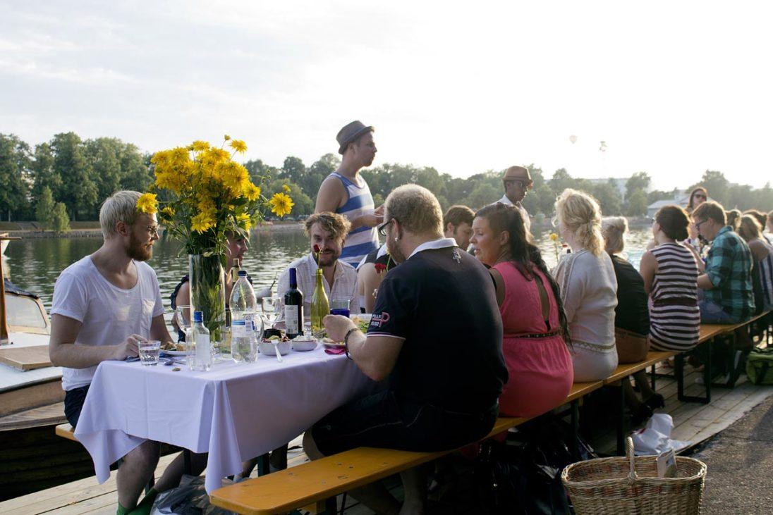 Dinner under the Helsinki Sky