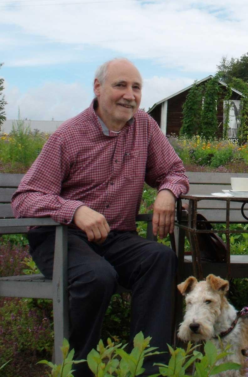 Eberhard Apffelstaedt mit Hund Nono