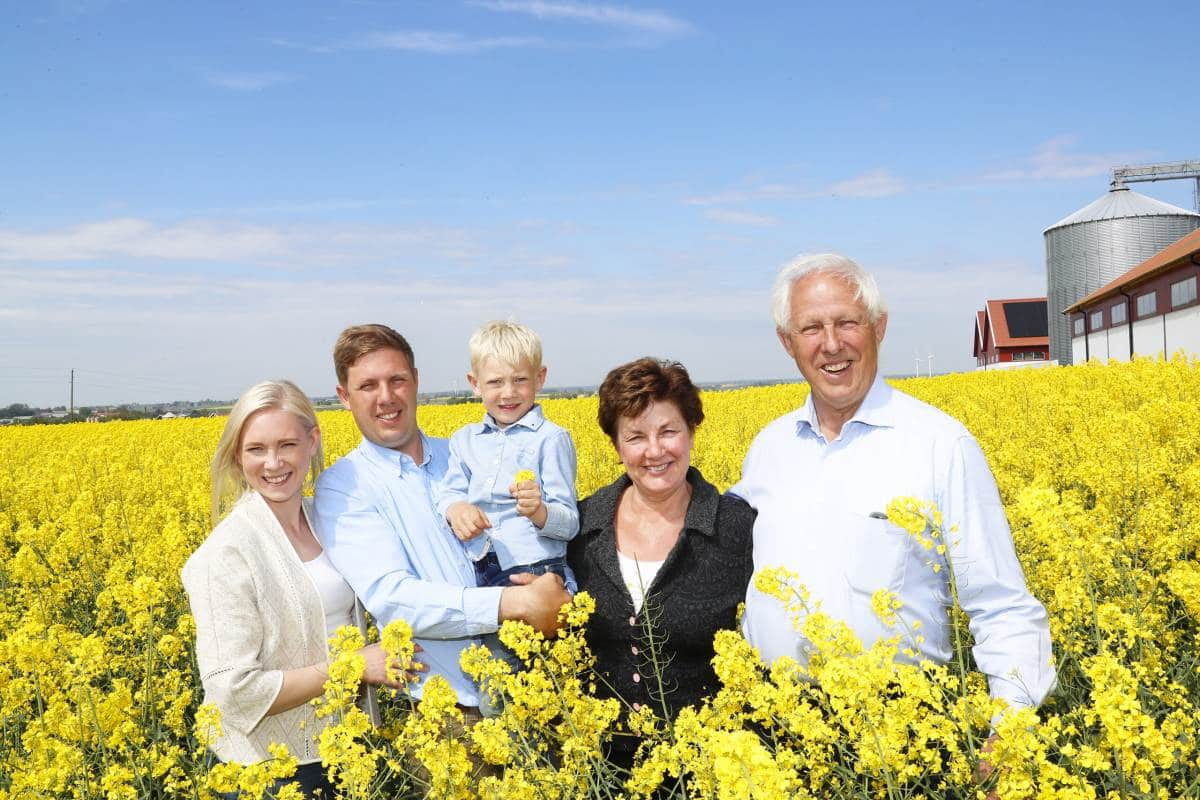 Familie Nilsson von Gunnarshögs Gård