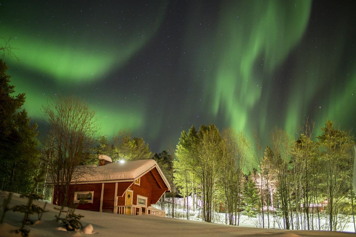 Ferienhaus unter dem Nordlicht