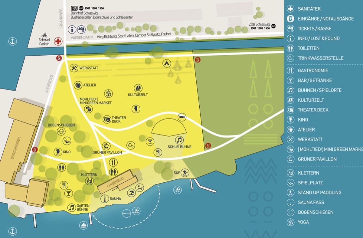 Geländeplan Norden Festival 2019