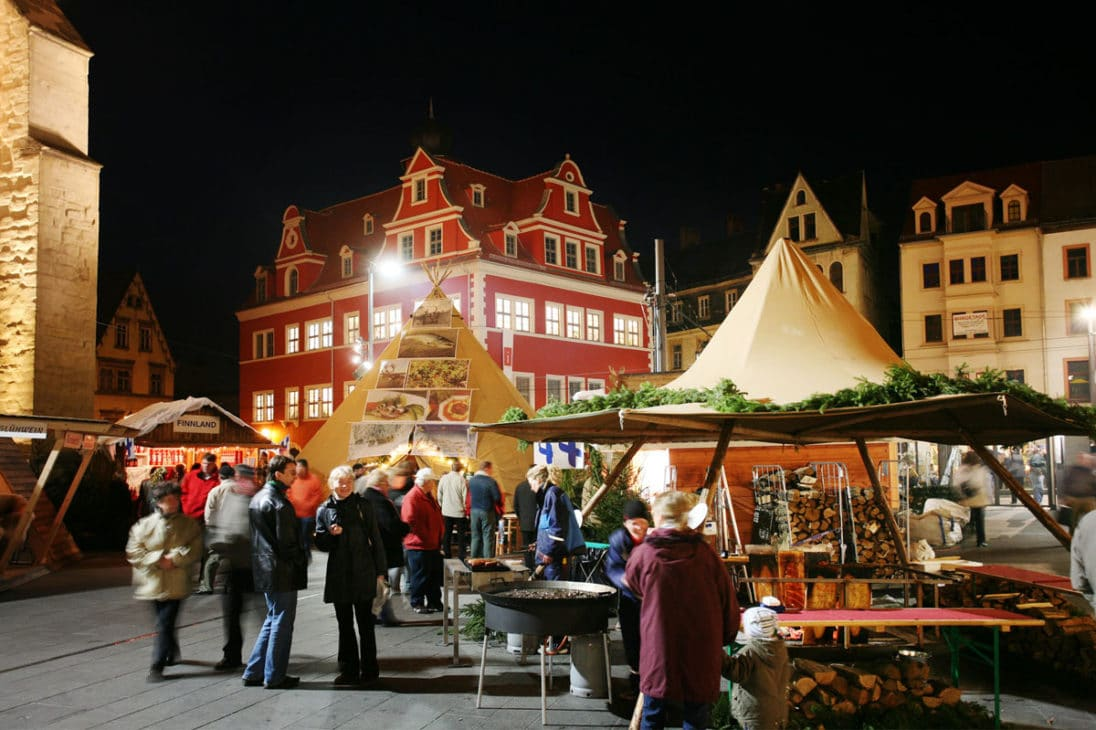 Finnisches Dorf Arctic Village in Halle