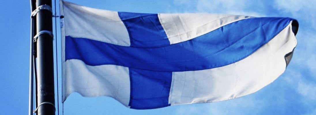 Finnland Flagge Banner