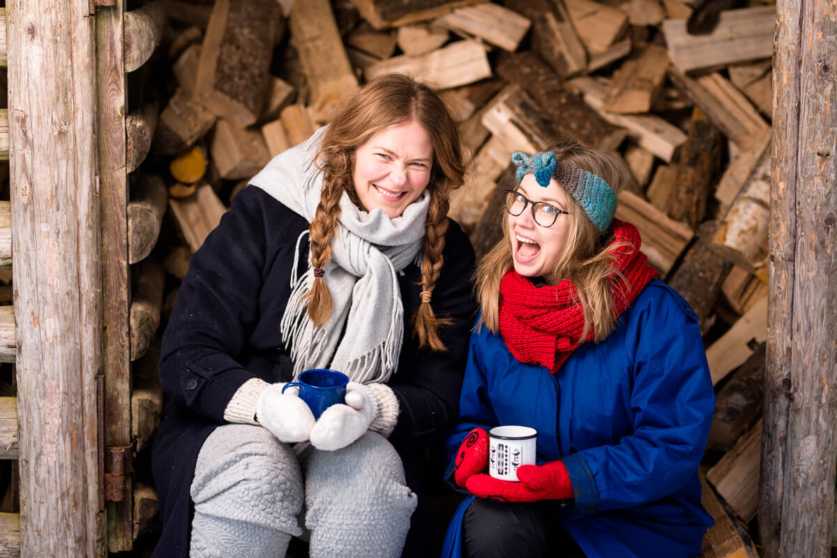 (FOTO: John Lawson) The two friends Nina Rantala and Mirka Olin focused on producing Nordic teas from