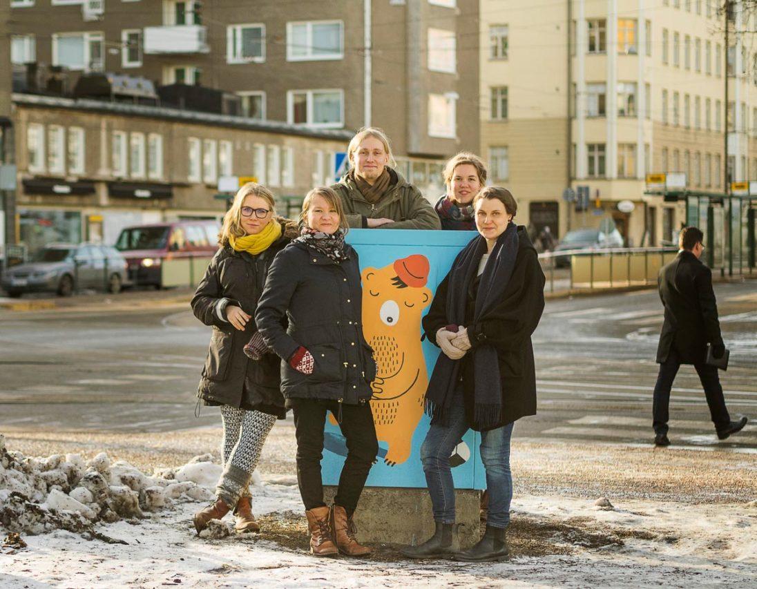 Das Kernteam von Helsinki Urban Art(