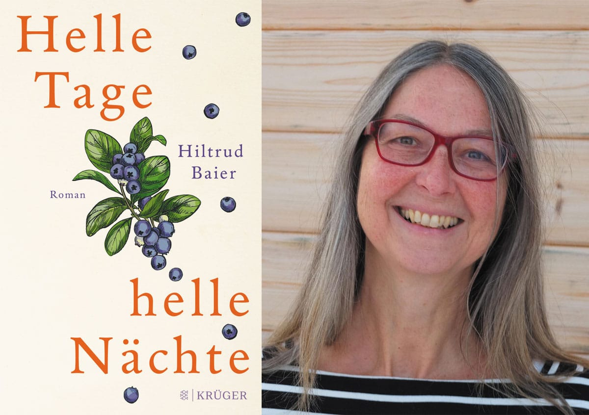 (Collage: Finntastic, FOTO: Rainer Ripper, Cover: S. Fischer Verlag) Hiltrud Baier lebt mit ihrem Mann in Jokkmokk. Ihr neuestes Buch