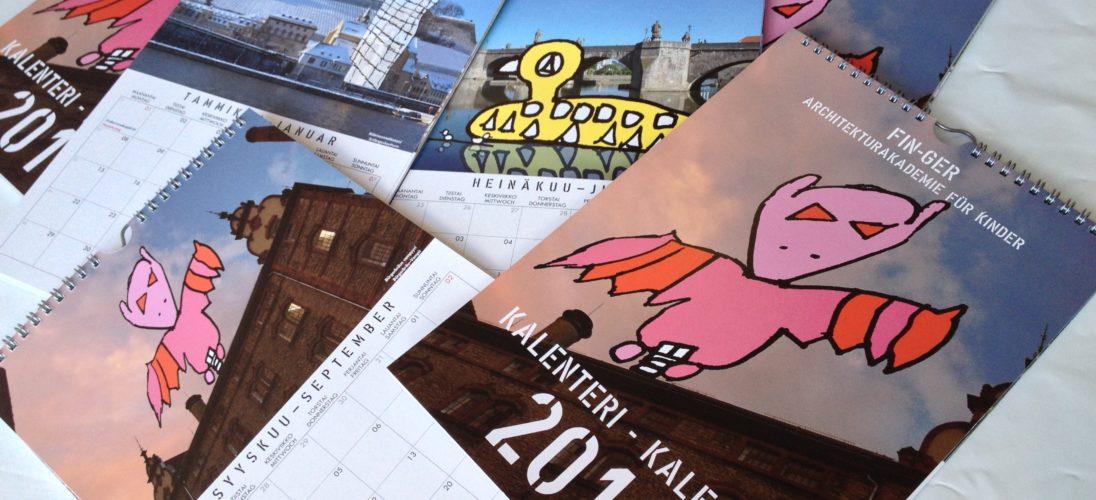 Fin-Ger Kalender 2018 der Architekturakademie für Kids