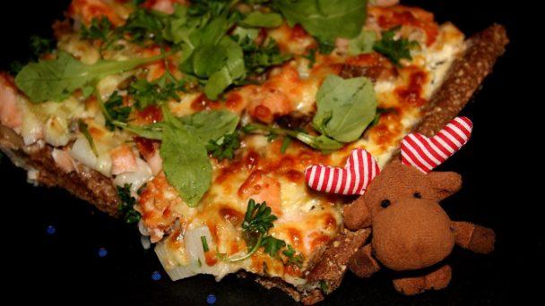 Janne-Oskaris Flammlachs-Pizza