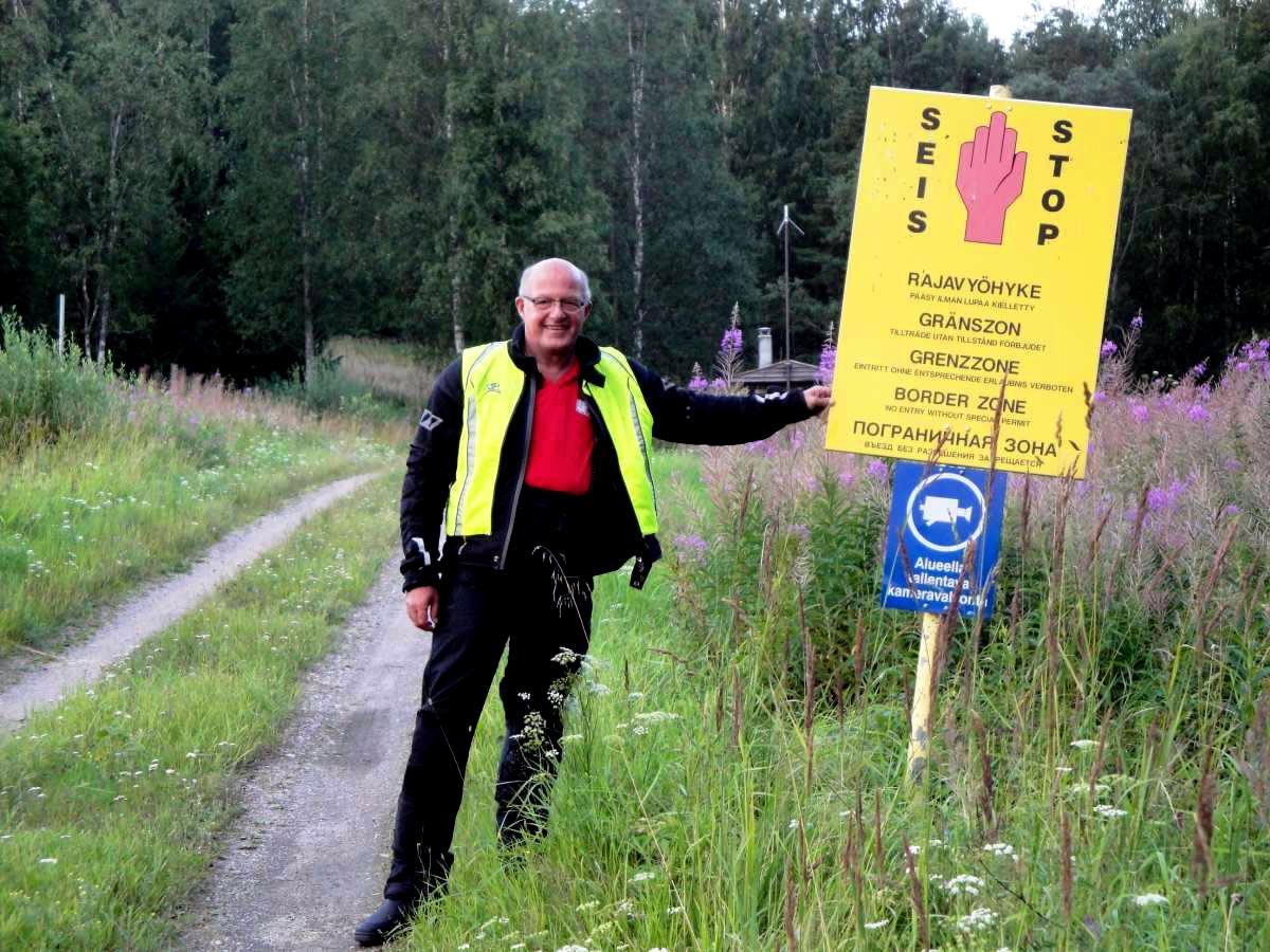 Joachim an der russ. Grenze bei Imatra