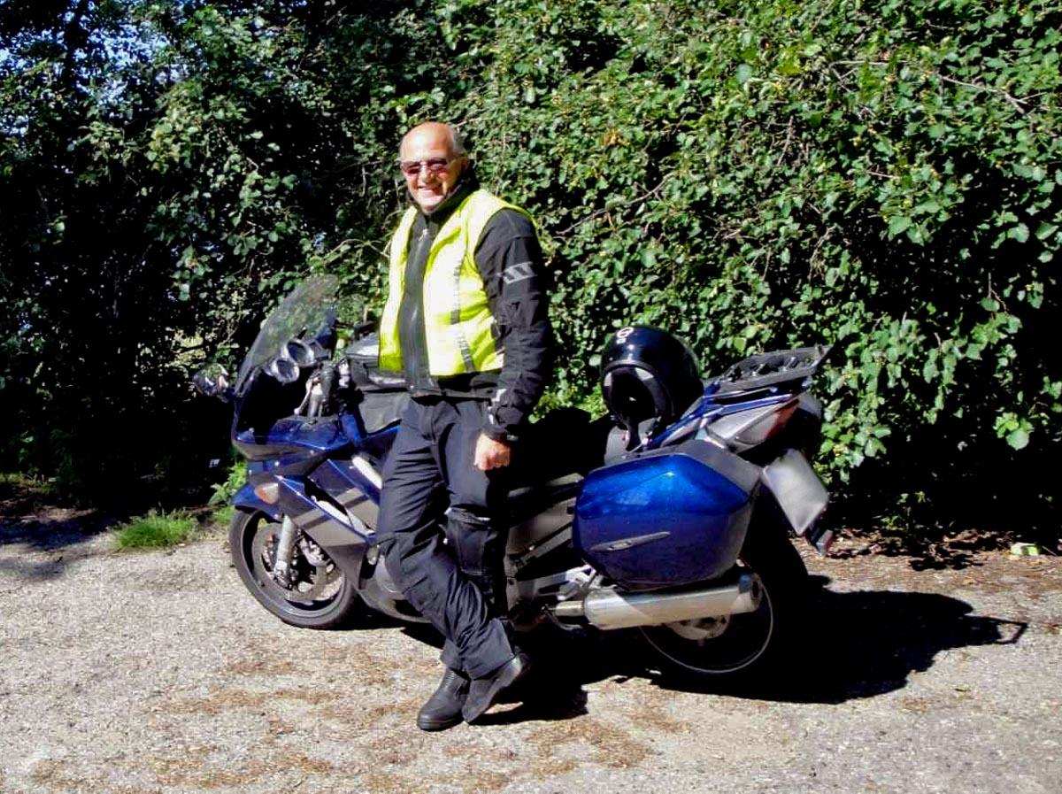 Joachim auf Mottorradtour durch Finnland