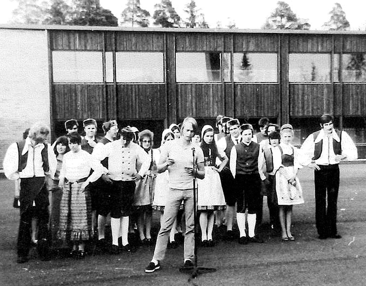 Joachim Diesner in Finnland mit der Wehrheimer Landjugend