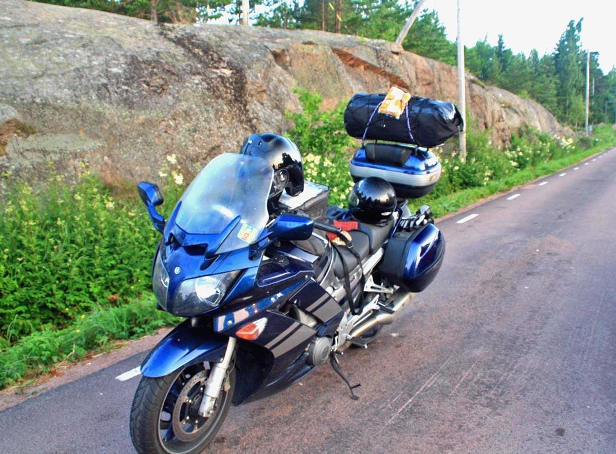 Joachims bepacktes Motorrad