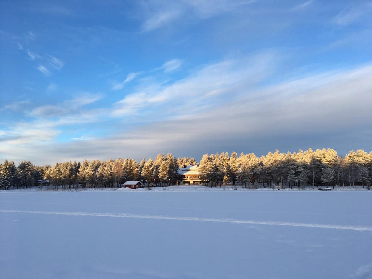 Winter am Talvatis See bei Jokkmokk