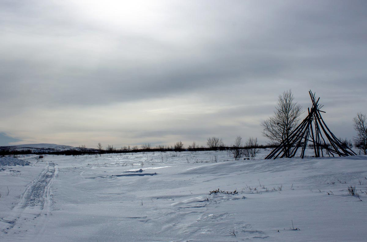 Winterlandschaft von Kautokeino in Norwegen